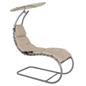 Dream Chair Garden Rocking Lounger & Canopy Taupe (Slight Seconds) £39.99 Delivered @ XS Stock