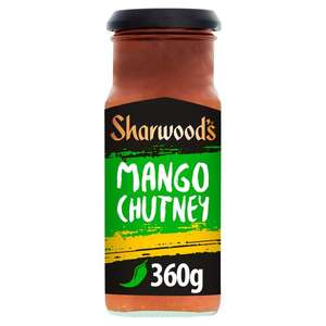 360g Sharwoods Green Label Mango Chutney £1.38 @ Ocado was £1.85