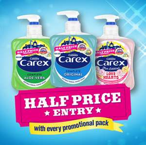 Half Price Entry to Sealife Centers & Alton Towers with Carex Handwash Bottles @ Carex