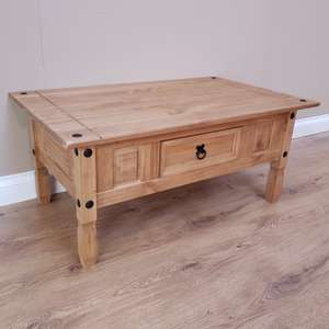 Corona Coffee Table Mexican Solid Pine By Mercers Furniture 34 84