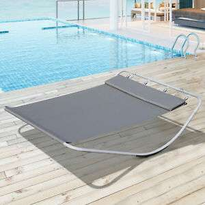 Outsunny Double Hammock / Sun Lounger in grey £55.24 delivered with code @ eBay sold by outsunny