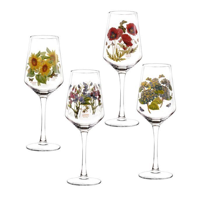 4 x Portmeirion Botanic Garden 450ml Wine Glasses £15.60 delivered @ Portmeirion Group