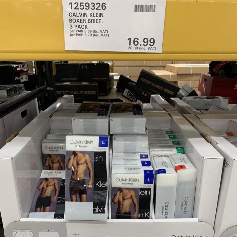 Calvin Klein Boxer Briefs - 3 Pack £20.38 at Costco Sheffield