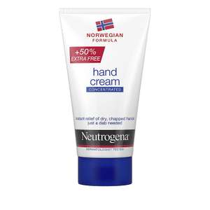 Neutrogena Norwegian Formula Hand Cream, 75 ml for £2.50 at Amazon (add on item)