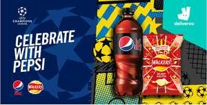 Get a £5 voucher when you purchase any Pepsi product on Deliveroo (£15 in total!)