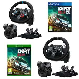 Now Live - Logitech Racing Wheel & Shifter + DiRT Rally 2.0 on Xbox / PS4 £178.99 @ GAME