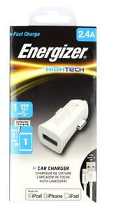 Energizer USB In Car Charger With Apple certified Lightning Cable  Half price £7.49 @ Boots