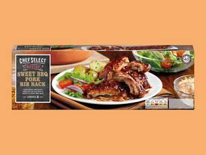 Chef Select Sweet BBQ Pork Rib Rack 600g £1.99 instore @ Lidl - from 4th May