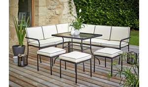 20% off Garden Furniture over £150 with code eg Ronda 8 Seat Metal Corner Sofa Set with table £198.95 delivered + £10 voucher @ Argos