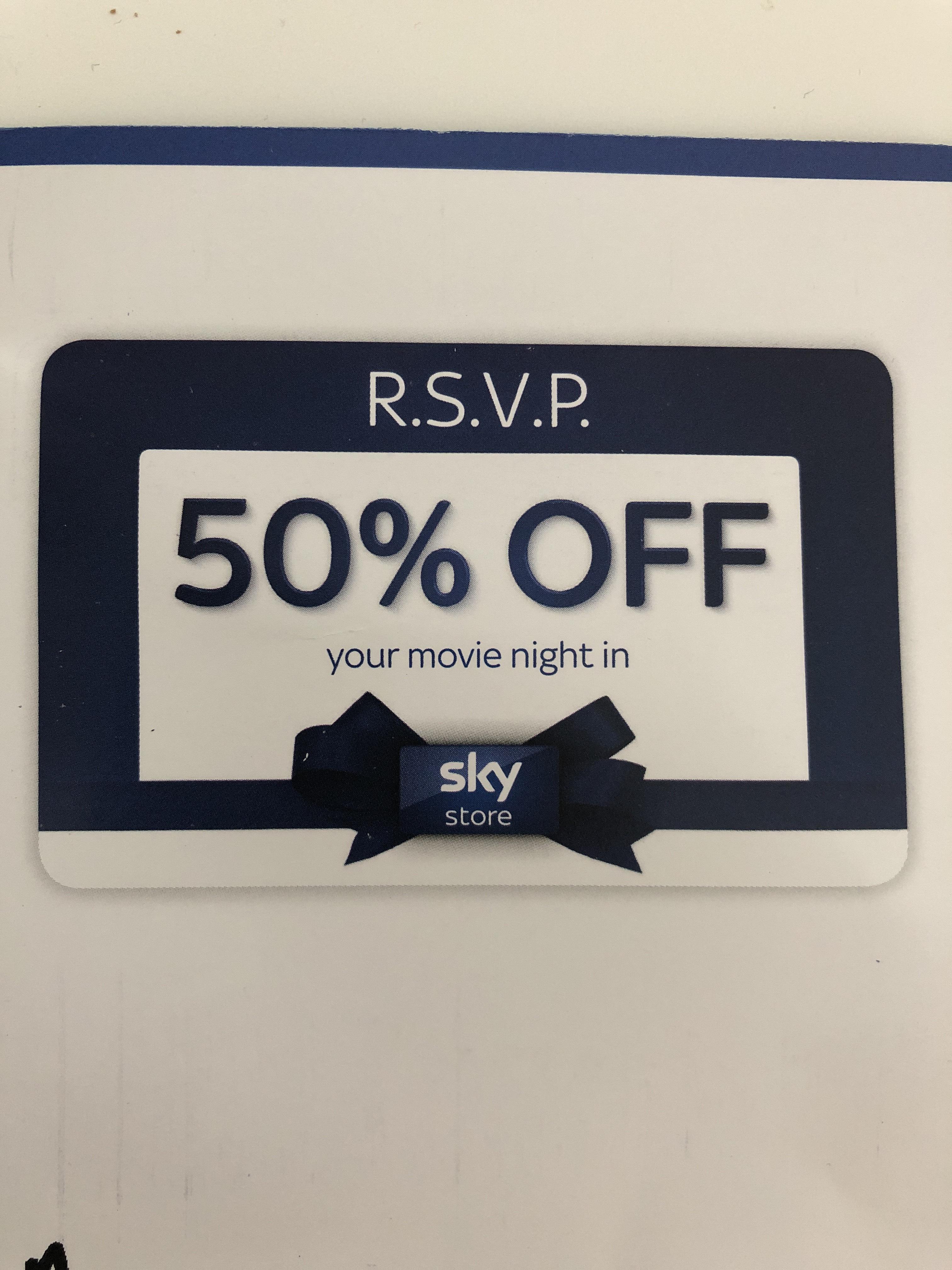 Sky Store movie night in - 50% off Buy & Keep Movie