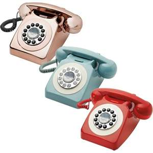 Goodmans Retro Phone in Red / Duck Egg Blue / Metallic Copper £15 @ B&M (In-Store)