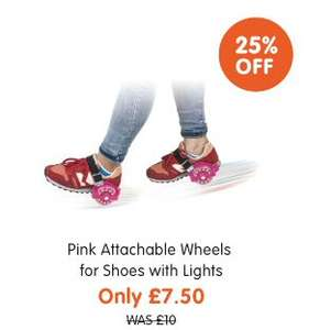 Pink Attachable Wheels for Shoes with Lights £7.50 @ The Works was £10.00. Free C&C