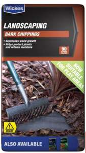 Wickes Play Safe Grade Bark Chippings 90L bag was £7 now £4.50 @ Wickes