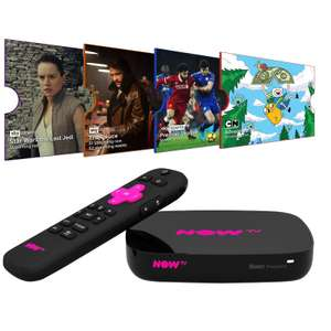 NOW TV Smart Box With 4K & Voice Search *PLUS* 1-Month of Sky Cinema + Entertainment + Kids & 1-Day Sky Sports... ALL FOR ONLY £24.99 at B&M