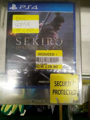Sekiro: Shadows Die Twice on the PS4 was £50 now £28.80 @ Tesco In-store