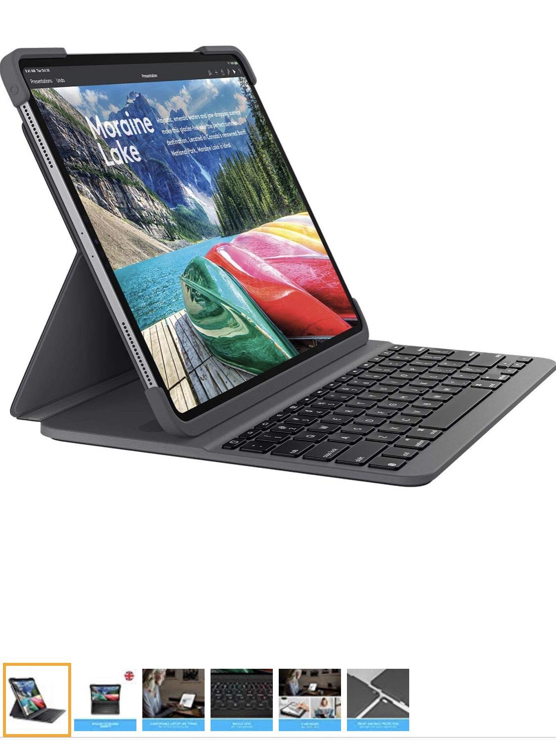 Logitech SLIM FOLIO PRO, backlit Bluetooth keyboard case, for iPad Pro 11-inch (3rd gen) - £99.98 @ Amazon