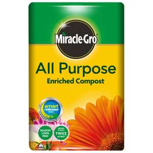 Miracle-Gro® All Purpose Enriched Compost 50L 3 for £12 @ Longacres (£5 Each - Free C&C)