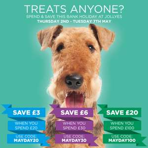 Jollyes Pet Store - Pet Food May Bank Holiday Offers.