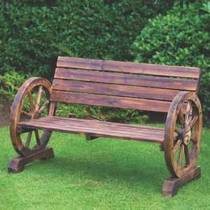 Wagon Wheel Bench 2 Seater £50 @ B&M