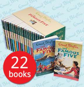 The Famous Five Collection - 22 Books Collection (Enid Blyton) £19.99 delivered with code  @ The Book People