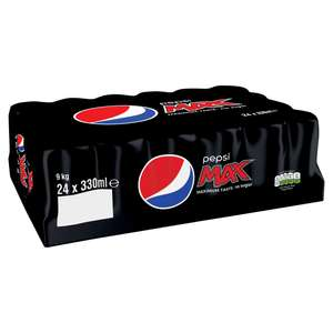Pepsi Max or Diet 24 x 330ml Cans £5 / Pepsi Max 1.5L including Cherry + Raspberry £0.90 @ Tesco
