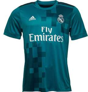 726d3ea40 adidas Mens RMCF Real Madrid Third Shirt Vivid Teal Grey White £24.98  delivered