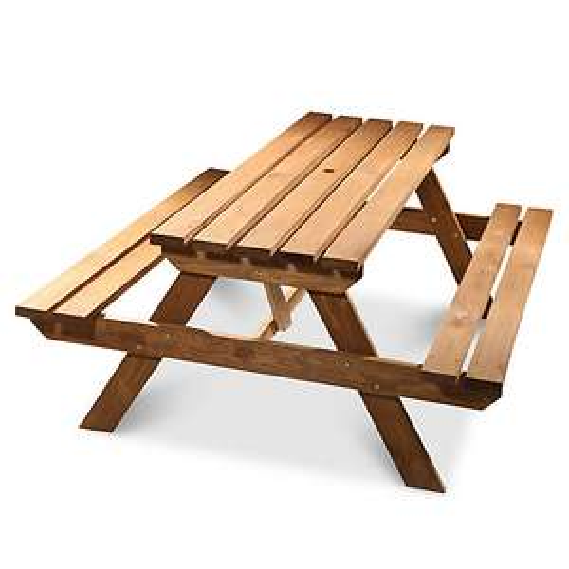 Agad Wooden 6 Seater Picnic Bench 163 65 B Amp Q Hotukdeals