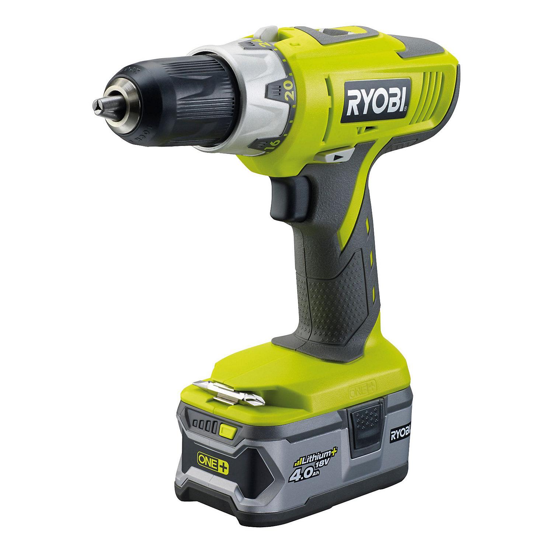 Ryobi One+ Cordless 18V 4Ah Li-ion Combi drill 2 batteries LLCDI18LL40S £85 @ B&Q