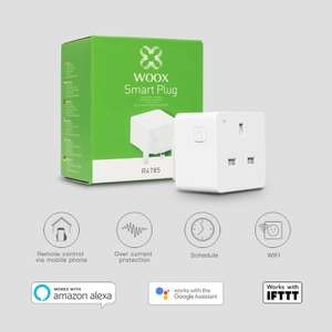 WOOX Smart Plug, Works with Alexa, White @ Amazon for £8.99 (Prime) or £13.48