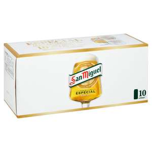 San Miguel Lager 10 X 440ml cans £7 @ Tesco