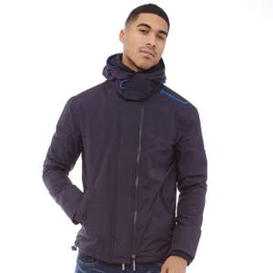 Superdry Mens Pop Zip Hooded Arctic SD-Windcheater Jacket Deep Marine/Mid Blue (£4.99 delivery) - £29.98 @ MandM Direct