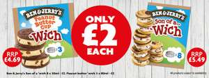 Ben & Jerry's Son of a Wich (8 Pack) OR Peanut Butter Cup Wich (3 Pack) - Just £2 a pack at Heron