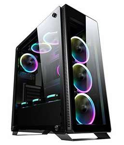 Sahara P35 Tempered Glass Mid Tower PC Gaming Case - £55.48 Delivered @ Scan
