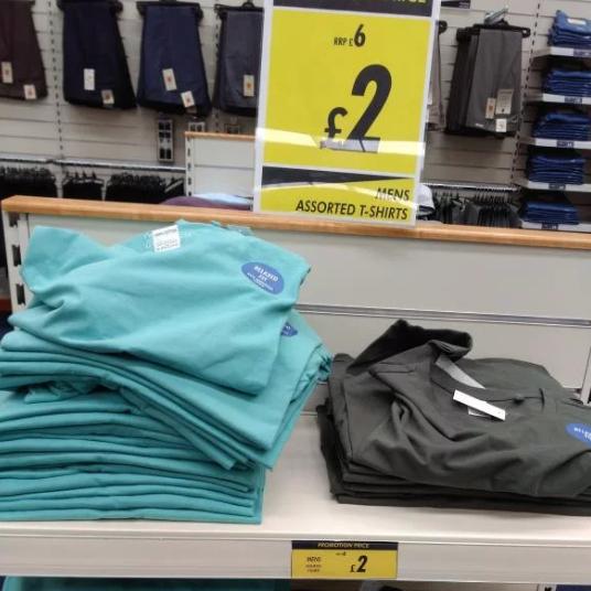T-shirts £2 @ Watt Brothers Falkirk Howgate