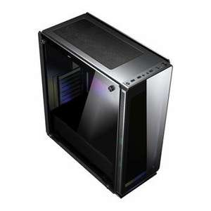 Sahara P35 Black Tempered Glass Mid Tower PC Gaming Case without Fans £52.27 @ Amazon