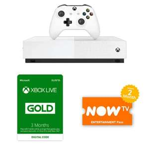 Xbox One S All Digital Edition + Xbox Live Gold 3 Months + Now TV Entertainment 2 Months £208.98 @ GAME (free delivery)