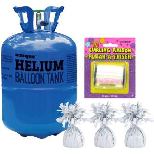 Helium Tank and Balloon Weights / ribbon Bundle Now £20 with Free delivery @ Hobbycraft
