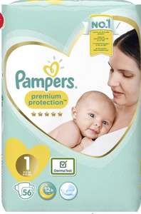 BOGOF Pampers Premium Protect Nappies (Size 1 & 2) £8 @ Boots
