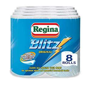 Regina Blitz Household Towels - Pack of 4, Total 8 £10 delivered at Amazon or £4.49 non prime