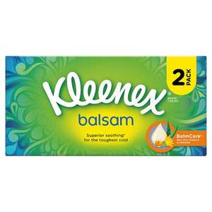 Kleenex Balsam Tissues Twin Pack 64s £1.49 Boots