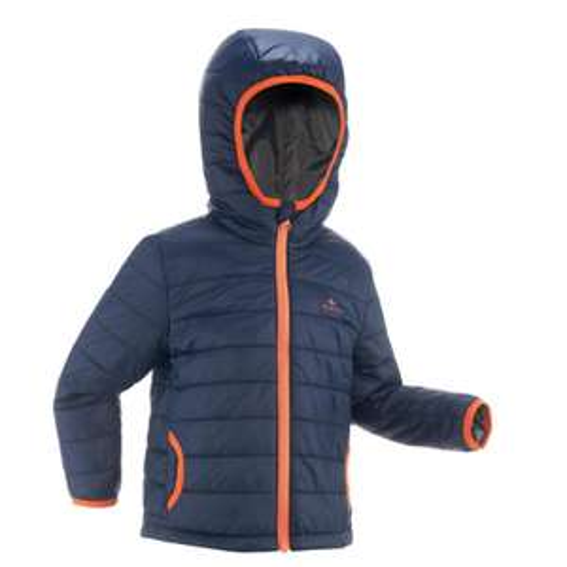 QUECHUA NAVY BLUE MH KID HIKING PADDED JACKET £8.99 Decathlon  - free c&c