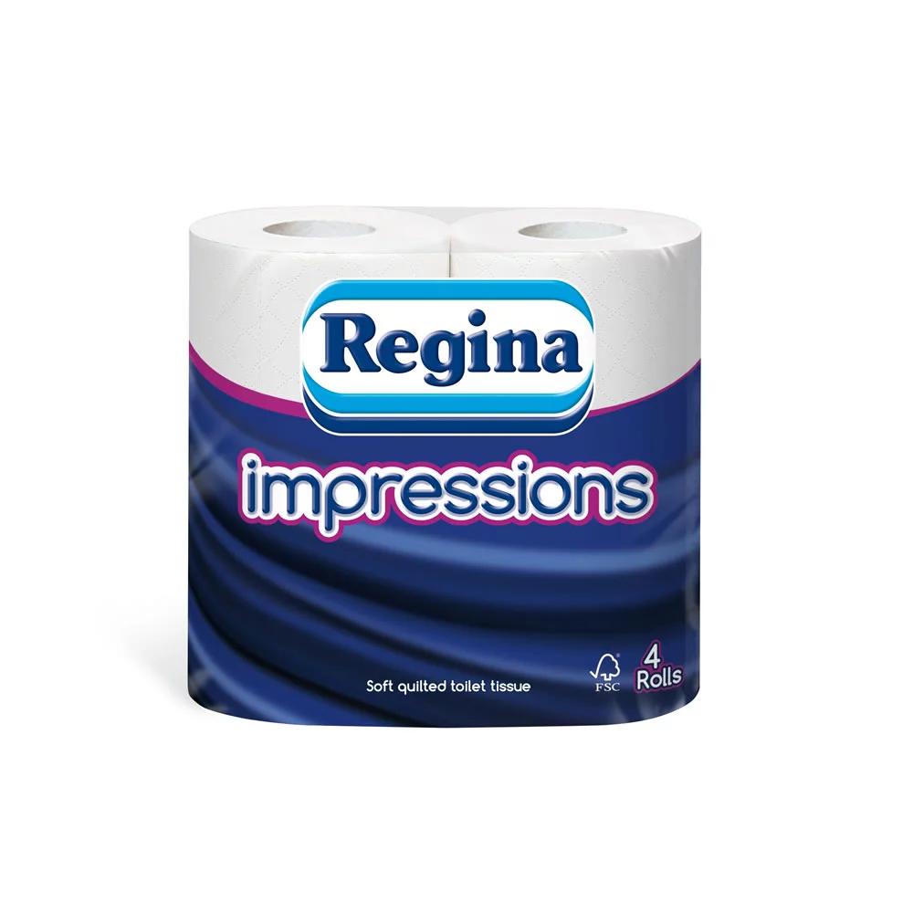 Regina Impressions Toilet Tissue 4 Rolls 3 Ply £1.25 @ Wilko