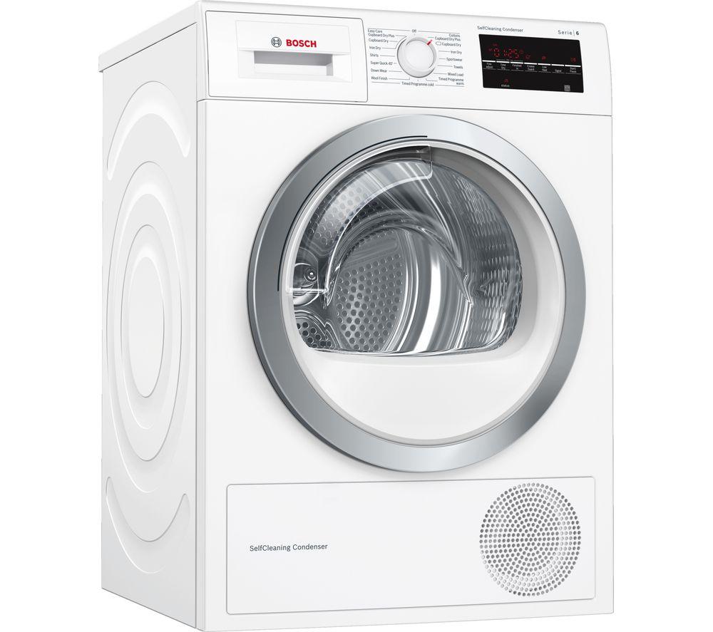 BOSCH Serie 6 WTW85480GB 8 kg Heat Pump Tumble Dryer - White - £529 @ Currys PC World