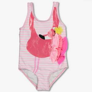1/2 Price : Girl's Flamingo 3 Frill Swimsuit Ages 7-9 Years , Was £8.50 - Now £4.25 @ Tu / Argos