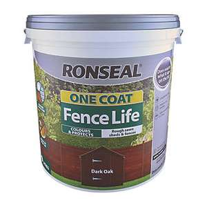 2 x 9L Tub of Ronseal Fence Life For £16 (£9.99 Each) @ Screwfix