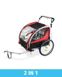 2 In 1 Kid's Bike Trailer / Stroller with 3 Year Warranty - takes 2 Kids - £87.99 Delivered at Aldi - Dispatched from 9th May