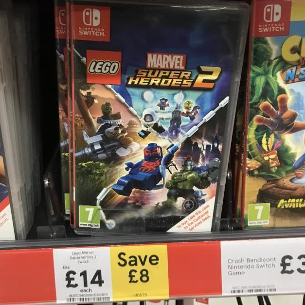 Lego Marvel Super Heroes 2 Nintendo Switch £14 @ Tesco Sheffield