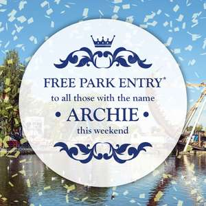 Free entry this weekend 11th & 12th for people called Archie @ Drayton Manor