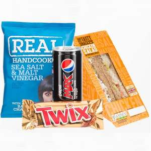 Poundland launches meal deal for £2 - Sandwich, chocolate bar, bag of crisps and drink £2.