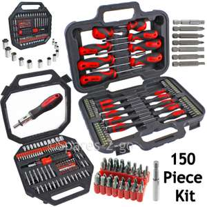 150 Pce Mechanics Screwdriver Nut Driver Bits Socket Bit Tool Set Phillips Torx£17.99 @ eBay /  spares-2-go